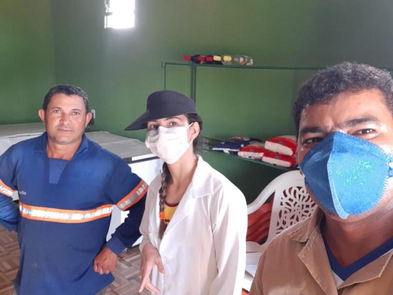 Inspeção Sanitária e orientação aos comerciantes para uso de mascaras e o álcool em gel