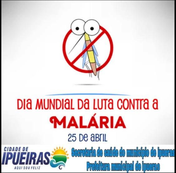 Panfleto informativo sobre o dia mundial de luta contra a malária.