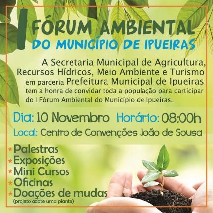 Convite: I Fórum Ambiental do Município de Ipueiras