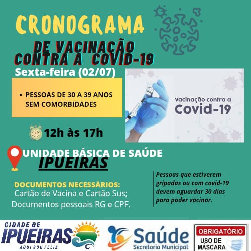 Cronograma de vacinação contra á COVID-19